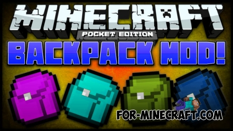 Backpacks mod for Minecraft PE 0.14.0/0.14.1/0.14.2