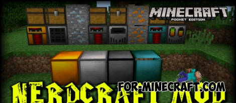 NerdCraft 2 mod for Minecraft PE 0.14.0