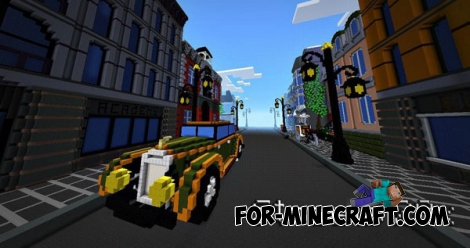 Streets 20's map for MCPE 0.14.0