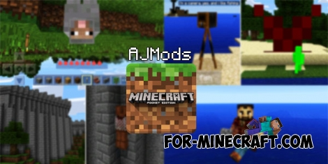 AJMods for Minecraft PE 0.14.0/0.14.1/0.14.2
