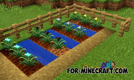 Ore Crop mod for Minecraft PE 0.14.1