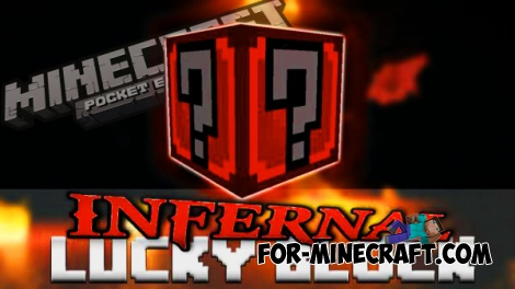 Infernal Lucky Block mod for Minecraft Pocket Edition 0.14.0/0.14.1