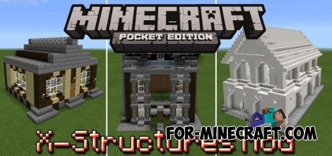 X-Structures mod for Minecraft PE 0.14.0/0.14.1