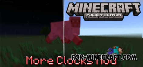 More Clocks mod for Minecraft Pocket Edition 0.14.1/0.14.0