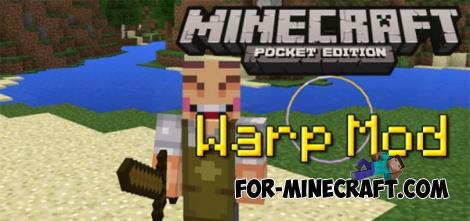 Warp mod for MCPE 0.14.0/0.14.1/0.14.2