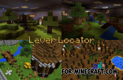 Lever Locator map for Minecraft PE 0.14/0.15.0