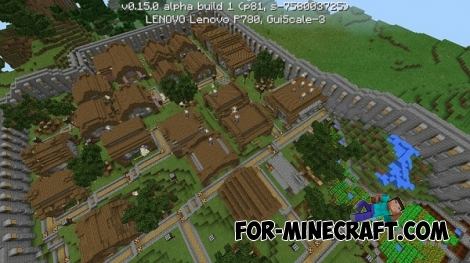 The heat village map for Minecraft PE 0.15.0