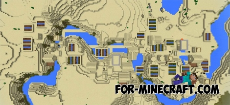 Triple sand village for Minecraft Pocket Edition