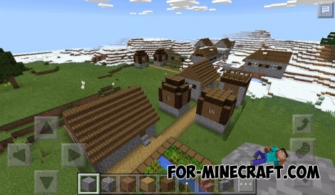 Two villages in the winter biome for Minecraft PE