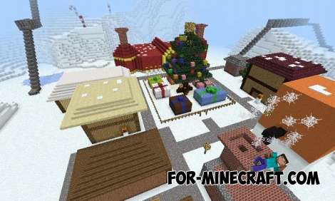 Christmas Town map for MCPE 0.15.0/0.15.1