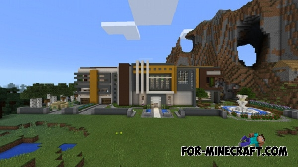 Automatic Redstone House Map For Minecraft Pe