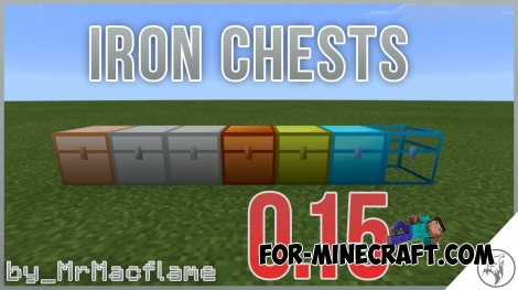 Iron Chests mod for MCPE 0.15.0/0.15.1