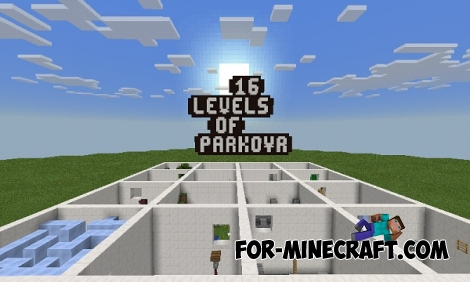 16 Levels Of Parkour map for Minecraft PE 0.15.2