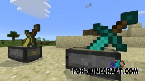 Sword Pedestal mod for Minecraft PE 0.15.1/0.15.2