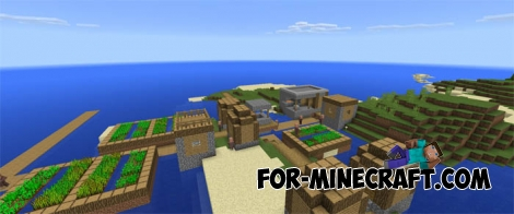 Island village seed for Minecraft Pocket Edition