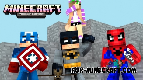 Pocket Heroes mod for Minecraft PE 0.15