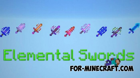 Elemental Swords mod v8 for Minecraft PE 1.2