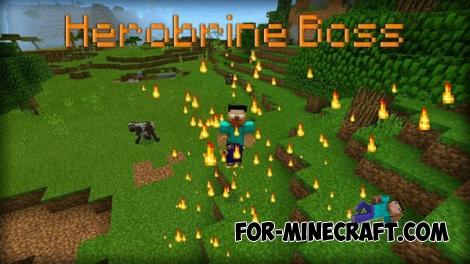 Herobrine Boss Mod [Minecraft PE 0.15/0.15.10]
