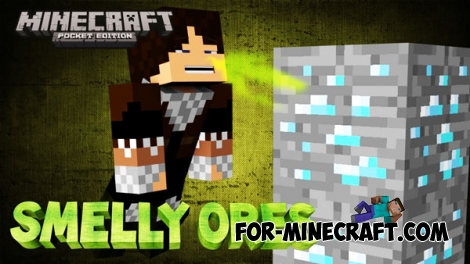 Smelly Ores Mod for Minecraft PE 0.15