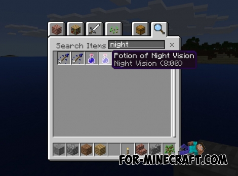 MCPE 0.16.0 - A search box in your inventory