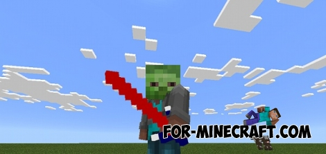 Light Sword mod for Minecraft PE 0.15