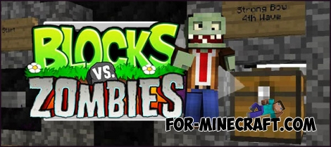 Blocks vs Zombies map for Minecraft PE 0.15/0.16.0