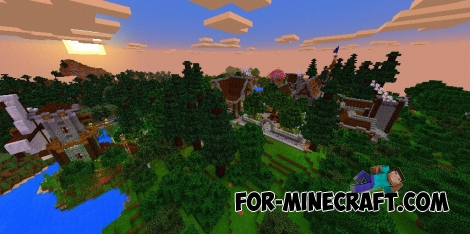 Fantasy Town map for Minecraft PE 0.16.0