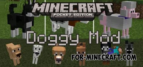 Doggy mod for Minecraft PE 0.15.6/0.15.7