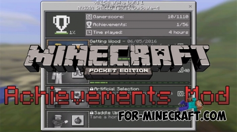 Achievements mod for Minecraft PE 0.15.7