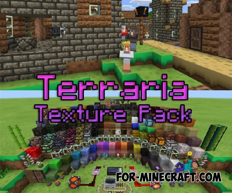 Terraria texture pack for Minecraft PE 0.15.9/0.16.0