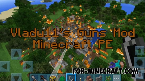 Vladu11's Guns mod for Minecraft PE 0.16.0
