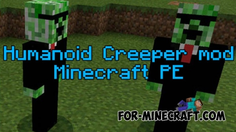 Humanoid Creeper mod for MCPE 0.16.0