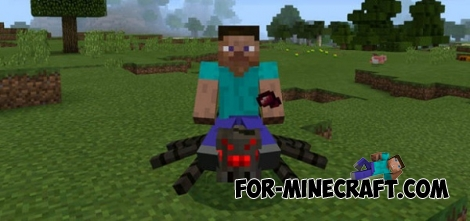 Mountable Spider mod for MCPE 0.16.0