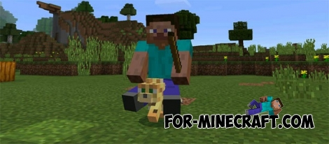 Driveable Mobs mod for Minecraft PE 0.16.0