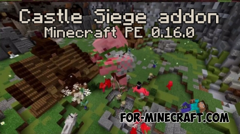 Castle Siege addon for Minecraft PE 0.16.0