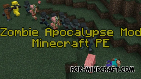 Zombie Apocalypse mod v2 for Minecraft PE 0.15/0.16/0.17.0