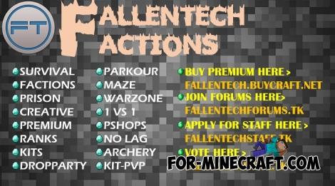 FallenTech Server for MCPE 0.16.0