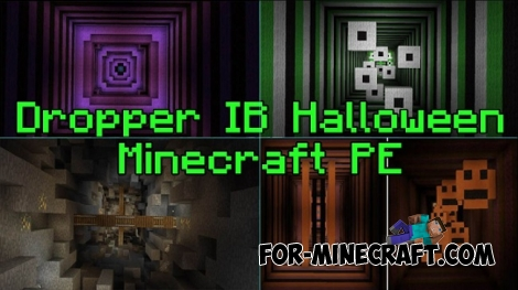 Dropper IB Halloween map for Minecraft PE 0.15/0.16.0