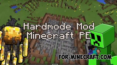 Hardmode mod for MCPE 0.16.0
