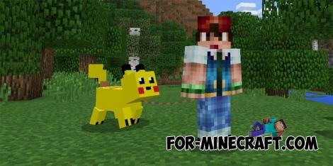 Pikachu Pig mod for MCPE 0.16.0