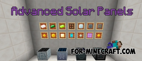 Advanced Solar Panels addon for Minecraft PE 1.0 (IC 2)