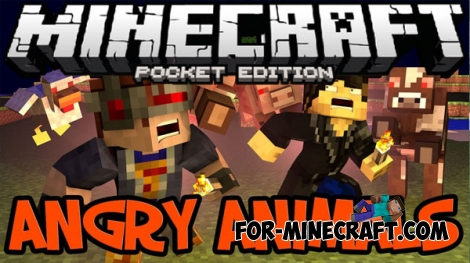 Angry Animals mod for MCPE 0.16.0