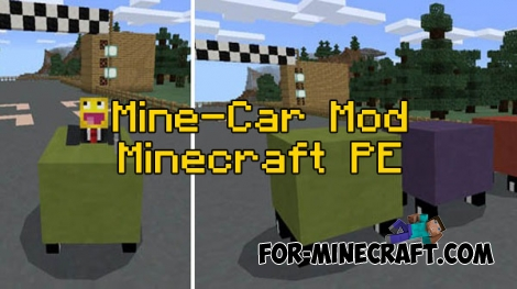Mine-Car mod for Minecraft PE 0.16.0/0.17.0 (1.0.0)
