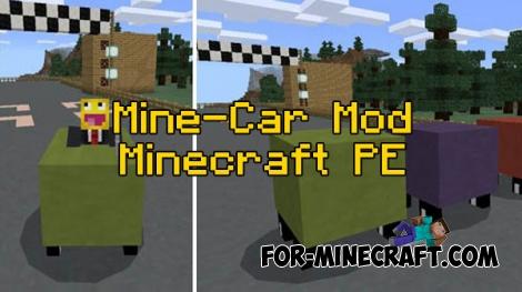 Mine-Car mod for Minecraft PE 0.16.0/0.17.0 (1.0.0)