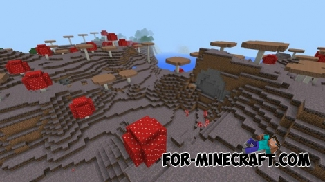 Mushroom biome for Minecraft PE 0.16.0
