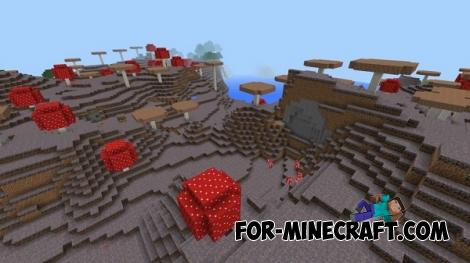Mushroom biome for Minecraft PE 0.16.0
