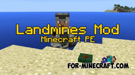 Landmines mod for MCPE 0.16.0