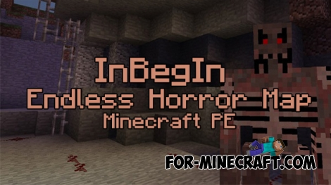 InBegIn Endless Horror map for Minecraft PE 0.16.0