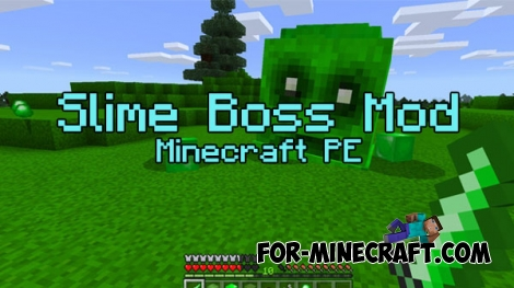 Slime Boss mod for MCPE 0.16.0