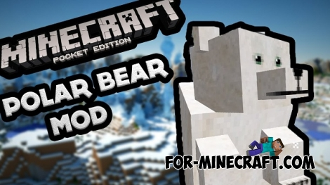 Rideable Polar Bear mod for Minecraft PE 0.16./0.16.1